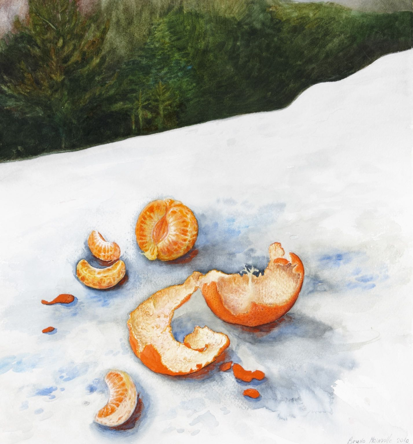 Orange aquarelle 2010